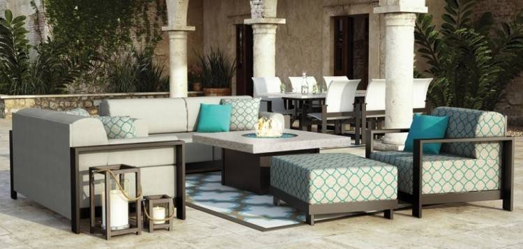 The new Bungalow  Collection by Homecrest Outdoor Living puts a luxurious twist on outdoor  living spaces