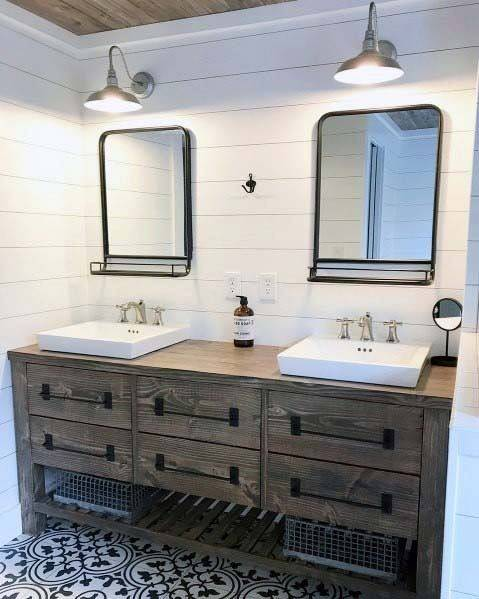"""Marianne Simon Design on Instagram: """"Another beautiful angle of our  waterfront modern farmhouse master bath"""