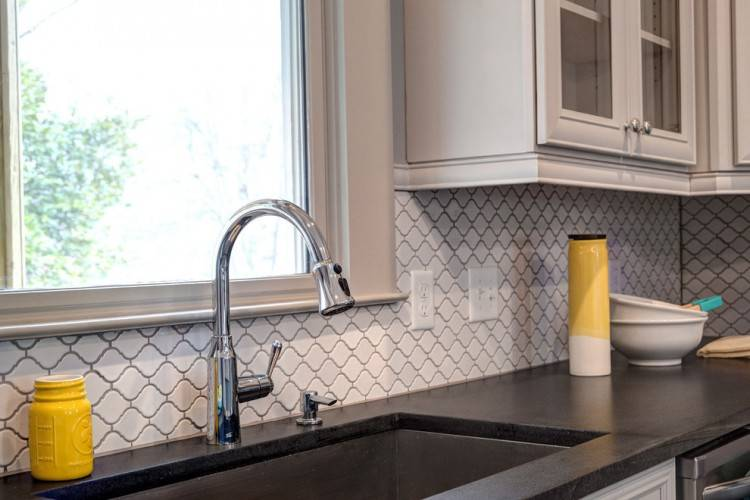 arabesque tile kitchen backsplash best ideas on designs and beveled