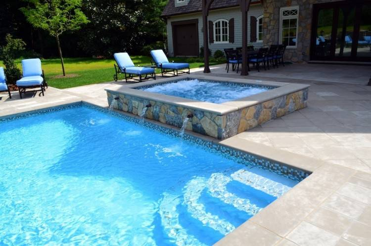 Decorating Round Pool Deck Designs For Above Ground With Fountain Ideas  Private