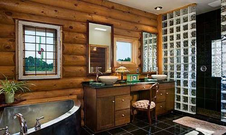 So whether you're building a new log cabin or updating the  baths