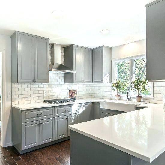 grey kitchen backsplash gray kitchen tile white raised panel kitchen  cabinets with gray geometric tile grey