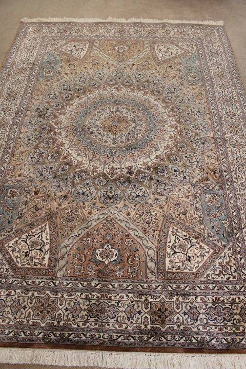 East Meets West Handmade carpet is woven for both classical and  contemporary home décor