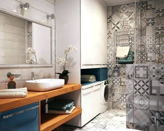 laundry in bathroom ideas