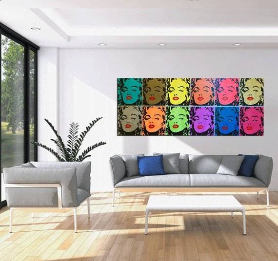 com: Canvas Wall Art Pictures Home Decor Living Room Framework 3  Pieces Abstract Blue Buddha Portrait Paintings Printed Flower Poster:  Posters &