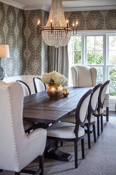 Dining room furniture set of table and four chairs