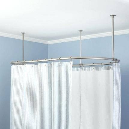 A removable exterior shower curtain rod that hangs on the outside of your  camper, RV or motor home