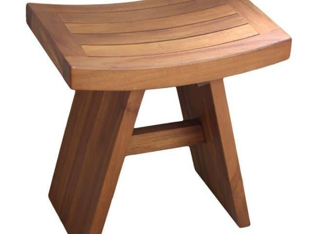 Teak Shower Bench with arms