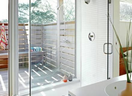 Indoor/Outdoor bathroom in a rural Australian home