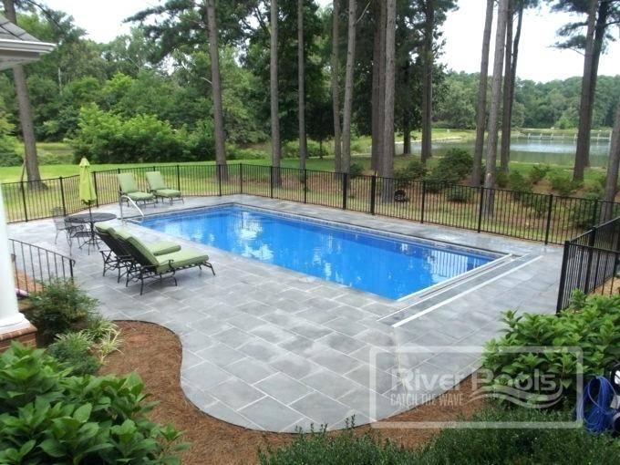 inground pool plans small backyard pool design