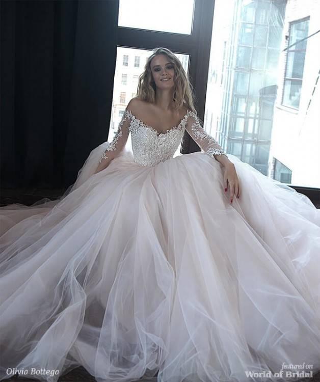 Olivia Bottega 2019 Wedding Dresses Sheer V Neck Sequins Tulle Beach Wedding  Dress Custom Made Cheap Bridal Gowns Wedding Dresses Dresses Wedding Dress
