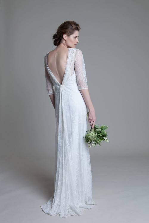 V Neck Backless Wedding Dresses Sweep Train Appliques Wedding Dresses  Garden Beach Bridal Gowns Vestidos De Novia Bridal Dress Designers Bridal  Gowns Uk