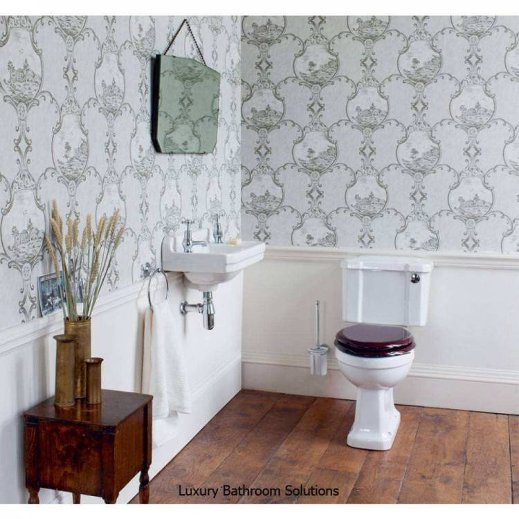 cloakroom basin with  rail edwardian bathroom