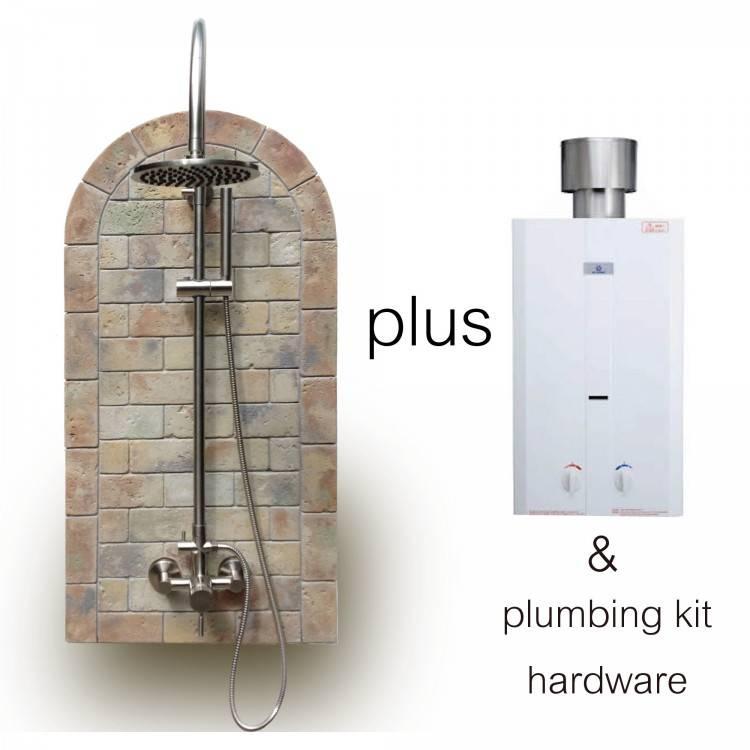 outdoor shower heater outdoor water