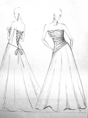 Just  describe the gown to us and we will design the Perfect Fit Pattern for you!