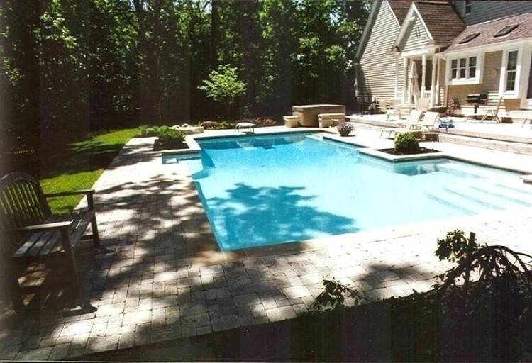small pool designs small pool design ideas in the backyard with white  pavement and wooden pool