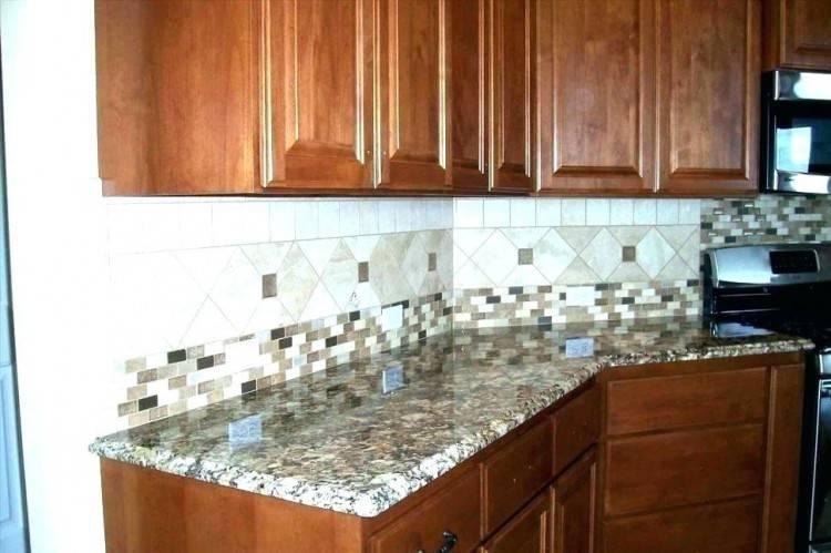 Brown kitchen backsplash