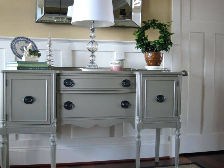 French Country Dresser Makeover with Homemade Chalk Paint  {rainonatinroof