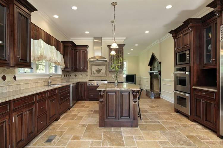 Best Inspired Kitchen Floor Ideas With Oak Cabinets Tips Cool Kitchen  Tile