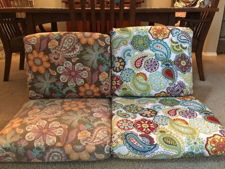 Use a shower curtain to make your outside cushions