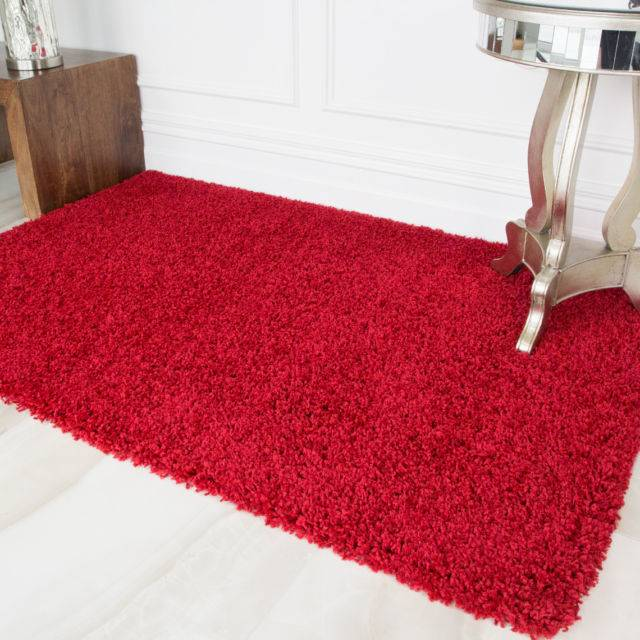 Super Soft Shaggy Rugs Round Area Rugs Modern Shag Burgundy Carpet Living  Room Carpet Bedroom Rug Dispoable Rugs Solid Home Decorator Floor Rug and  Floor