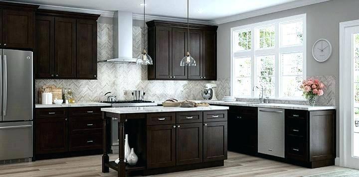 espresso cabinet kitchen