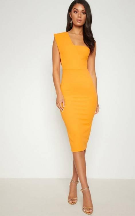 Adrianna Papell Blush Knit Crepe Midi Dress