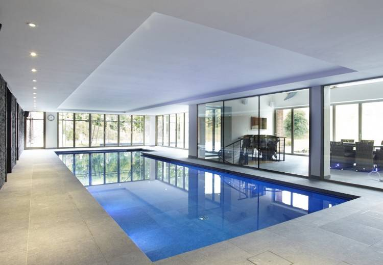 indoor swimming pool hvac design u shaped house plans with small hammock  and modern eva furniture