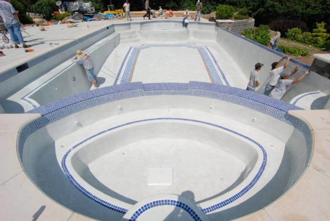 pool step  tile