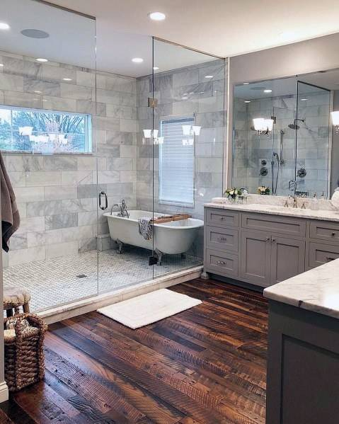 For bathroom cabinet ideas, look no further than this elegant design