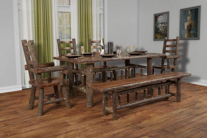hickory dining room table rustic hickory dining room table