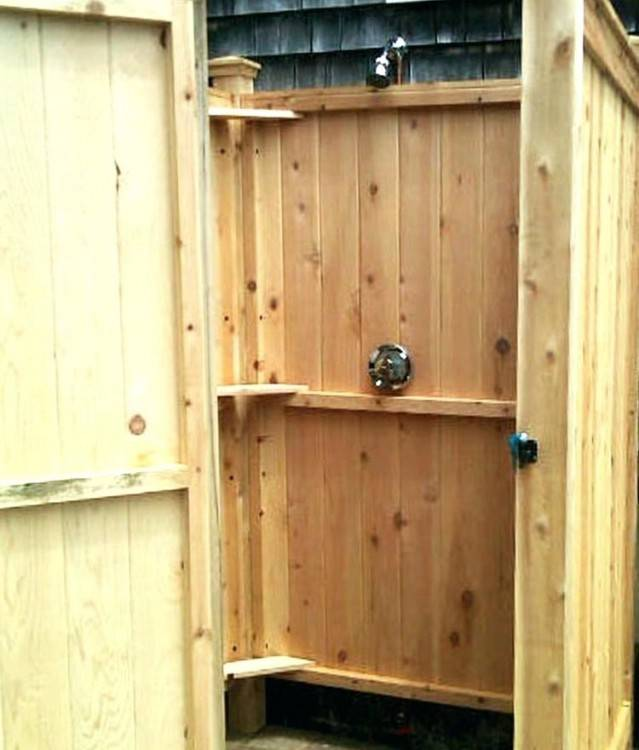 The San Luis Obispo Maker Space website has a tutorial for a simple  handmade RV shower stall