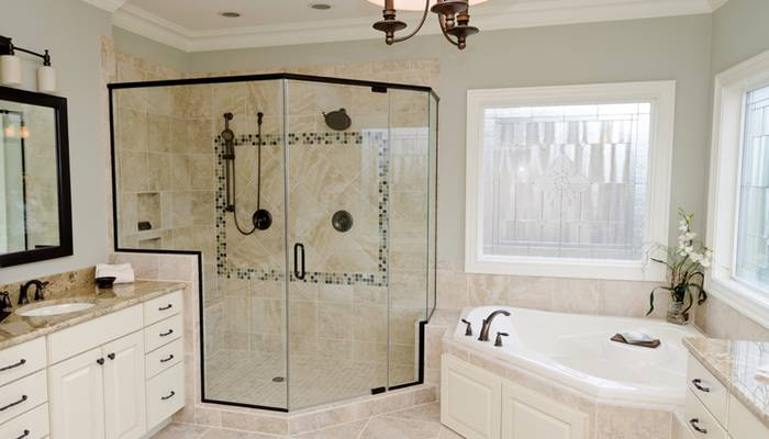 best cream bathroom | Tiled wetroom | Cream bathroom | Bathrooms | Image |  housetohome