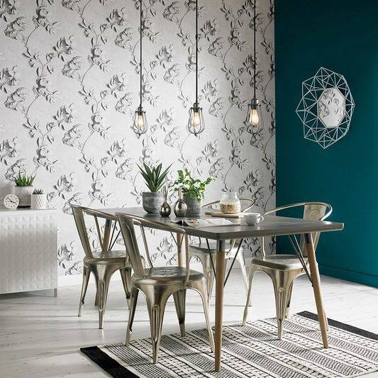 Grasscloth wallpapers are very hot right now