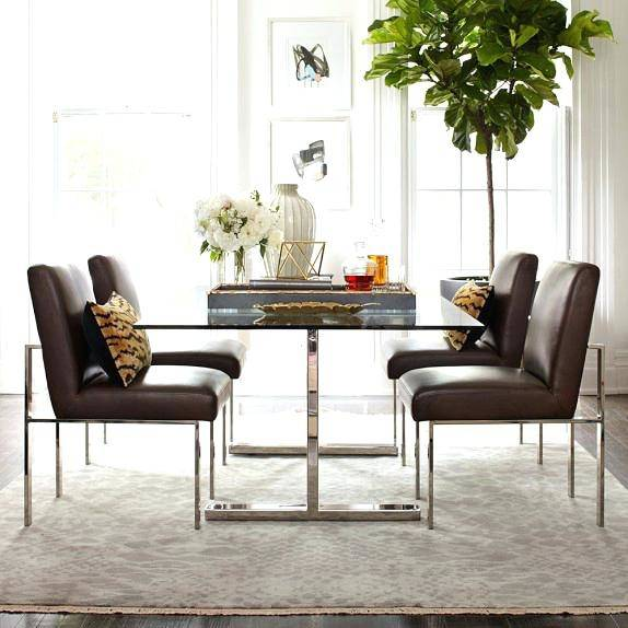 Tulip Pedestal Oval Dining Table, Polished Nickel
