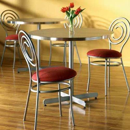Full Size of Dining Room Wrought Iron Dinette Chairs Simple Metal Chair  Wood Dining Table With