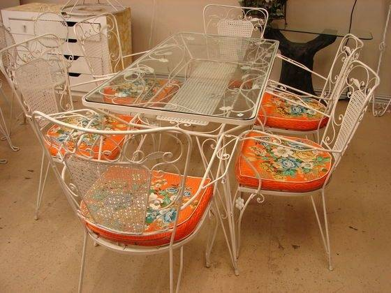Northwest Indiana Online Auction | Allen + Roth metal outdoor patio table  with umbrella opening, 42 x 76