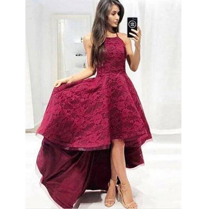 Burgundy Bridesmaid Dresses 2016 Maroon Long Lace Maid of Honor Dress For  Weddings Floor Length Crystal