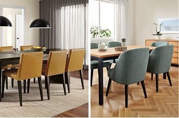 5 Parsons Table U0026 Walnut Soren Chairs  By R U0026b Modern
