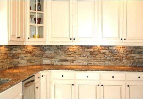 Tumbled marble kitchen