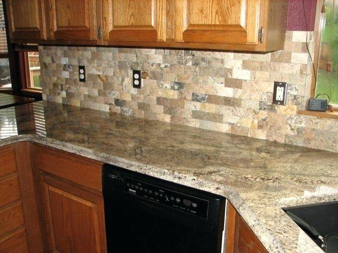 Stone Ideas Orange Mosaic Kitchen Backsplash Image From Post Gl Tiles  With