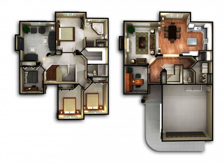 Full Size of 4 Bedroom House Floor Plan Design 3d In Nigeria India Plans  Awesome Awe