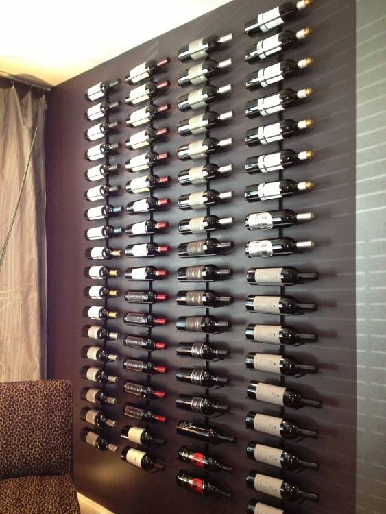 love this wine display wall