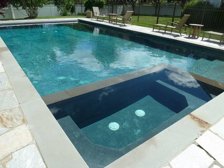 The  pool coping is used to separate the pool structure from the pool decking