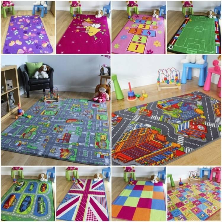 MAXYOYO Memory Foam Rug, Striped Design Velvet Rug for Living Room/Bedroom, Thick  Rug Flannel Rug Solid Carpet Floor Mat Boys Girls Play Mat/Game