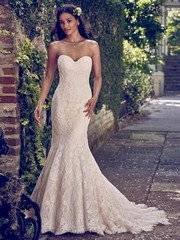 This Maggie Sottero Fit and Flare Wedding Dress