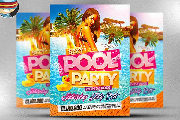 Back To Free  Download Sample 20 Pool Party Flyer Template