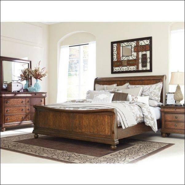 Furniture Saint Germain Platform Sleigh Bedroom Set |  AT2151451513SET2