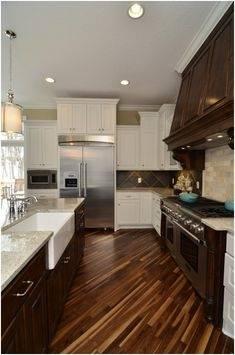 wooden floor kitchen ideas