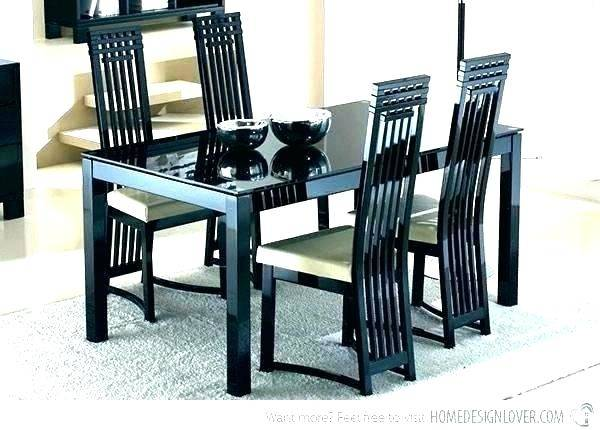 black lacquer dining chairs dining chairs black lacquer impressive modern table  room sets dining room black